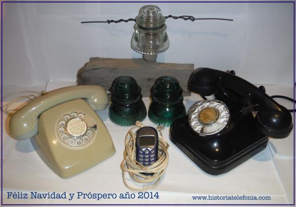 Alegoría navideño telefónica nostálgica