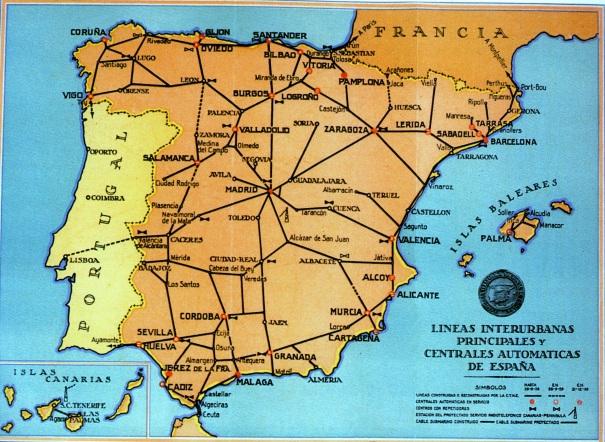 La Integración de las redes telefónicas en la CTNE  1924-1970
