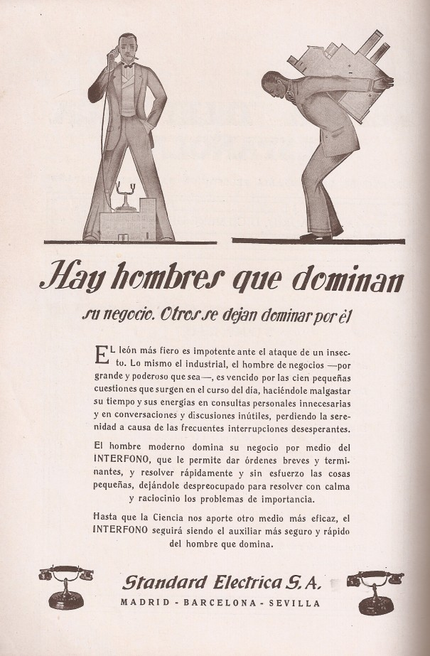 Anuncio. Revista Telefónica Española, diciembre 1929