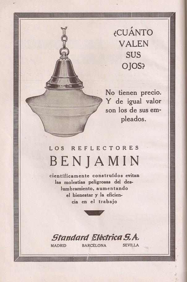 Anuncio. Revista Telefónica Española enero 1929.