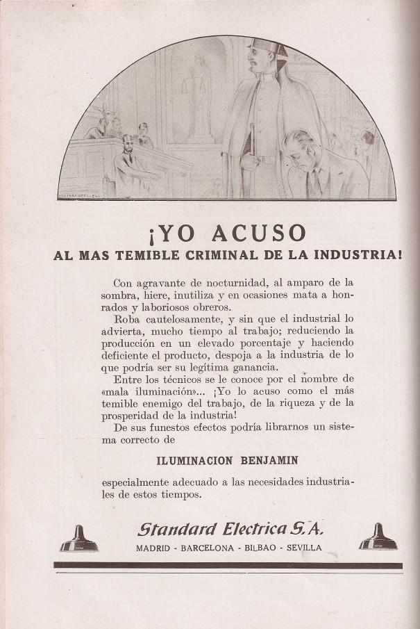 Anuncio. Revista Telefónica Española febrero 1929.