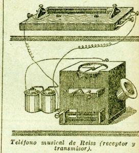 El teléfono musical de Reis en la Enciclopedia Sopena 1930