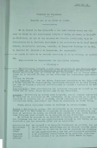Primera página del Acta nº 12