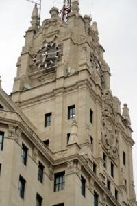 Edificio central de la CTNE. Vista parcial. Wikipedia