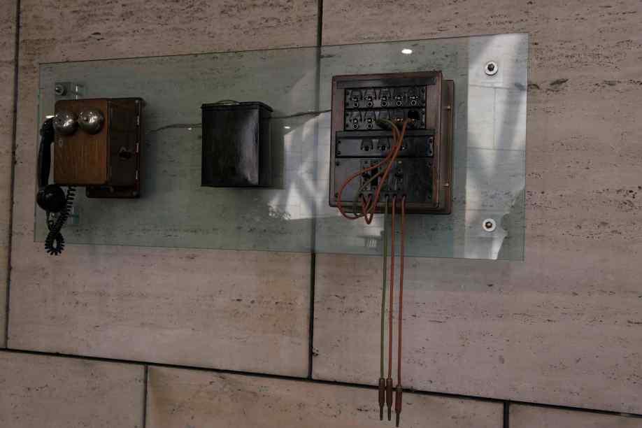 Estación de abonado de batería central y centralita. Edificio CNSO Aravaca