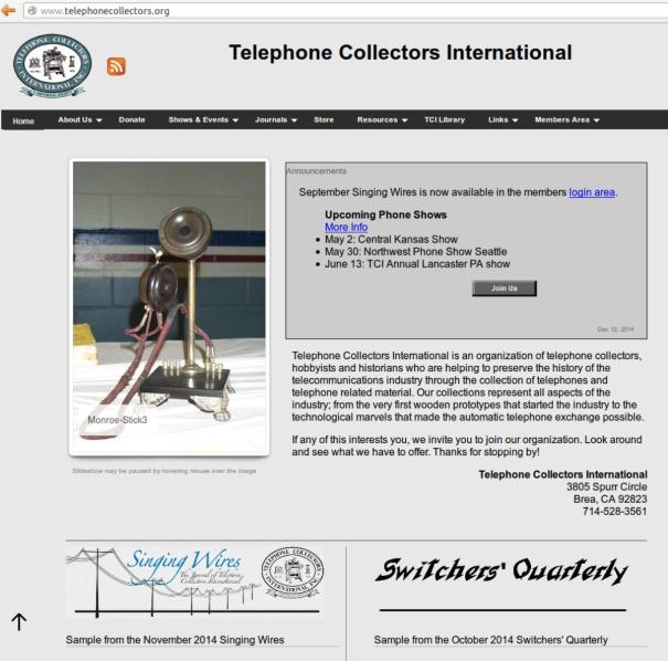 WebTelephoneCollectors