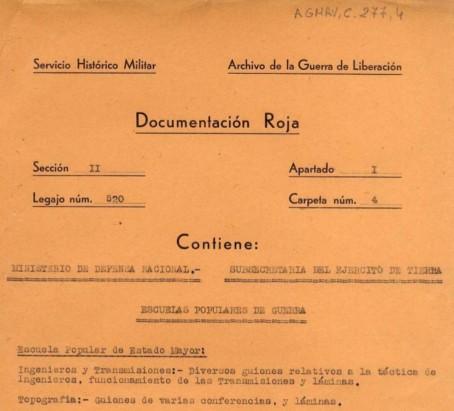 Gobierno de España. Ministerio de Defensa. Archivo General Militar de Ávila. Signatura C277_4 (año 1937)