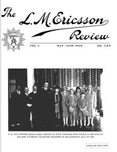Portada de Ericsson Review junio 1926