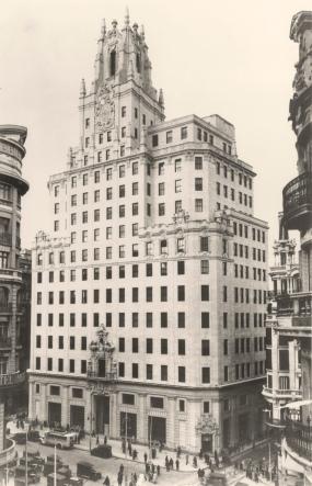 El edificio de G. Via terminado. Foto Fundación