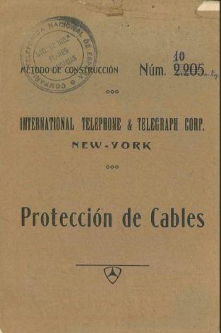 Portada_1926_MetodoConstruccion ITT 010 Proteccion Cables
