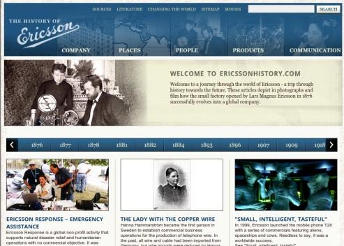 Web Ericsson History