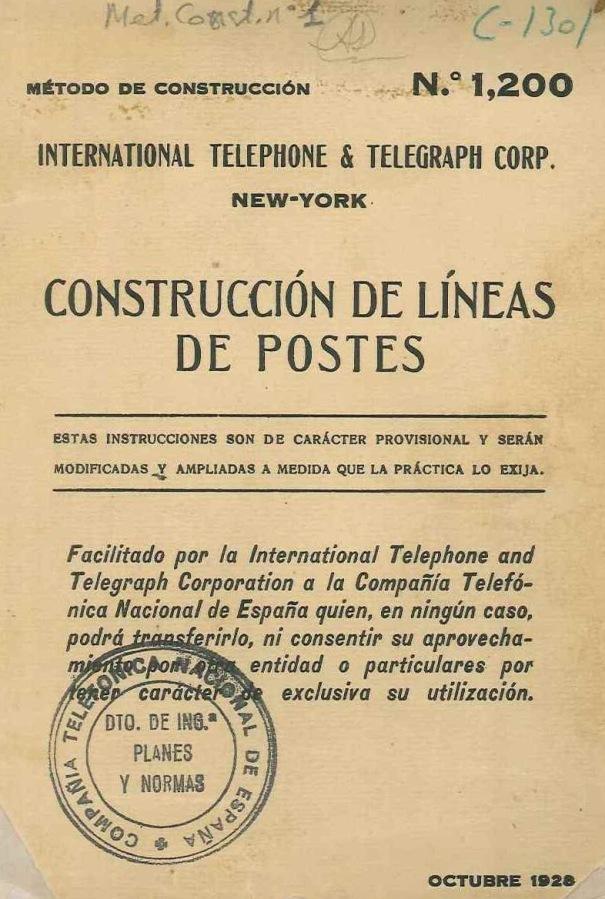 Portada del Método de Construcción n001, 1928