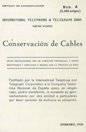 Conservación de Cables 1936