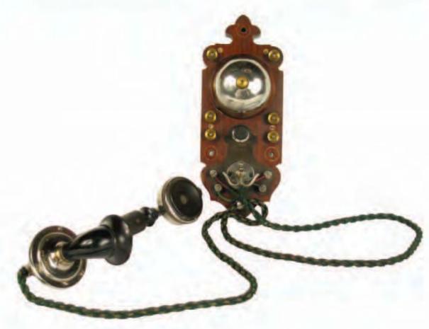 Teléfono mural del Salón rojo del Museo Cerralbo. Archivo Digital Museo Cerralbo. Madrid. Nº Inventario 7262