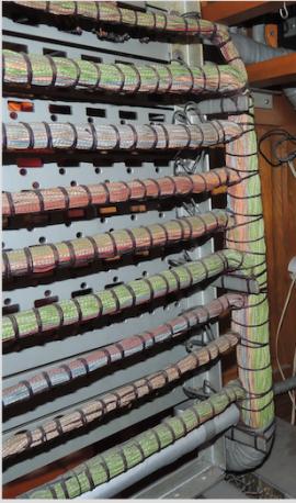 Detalle formas de cable, centralita manual tipo SESA 5572