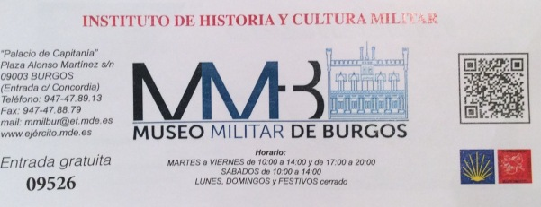 Museo Militar de Burgos Entrada