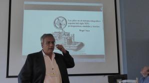 Ángel Toca hablando de las pilas telegráficas