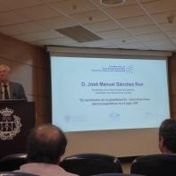 José Manuel Sánchez Ron en su conferencia