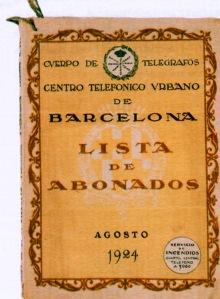 Listin Barcelona 1924