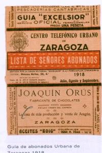 Listin Zaragoza 1918