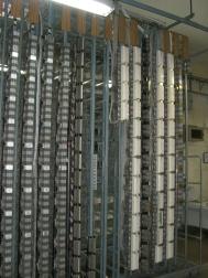 Repartidor Principal, lado vertical. 600 pares por columna.