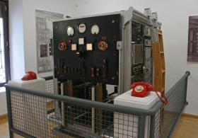 Museo de las Telecomunicaciones de Canena, Jaén. Maqueta del sidtema Rotary