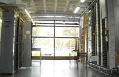 Museo de las Telecomunicaciones en la Universidad Pública de Navarra, con secciones de central rotary y PC-32 (Barras Cruzadas)