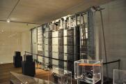 Sección de central AGF (sistema rotatorio de Ericsson) con elementos del sistema ARF (Barras Cruzadas) en el Museo de San Telmo de San Sebastián