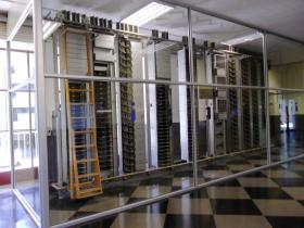 Sección de Central Rotary en exposición en la Escuela de Ingeniería de Bilbao