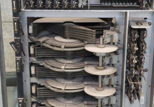 Buscadores de una central de conmutación telefónica del sistema Rotary