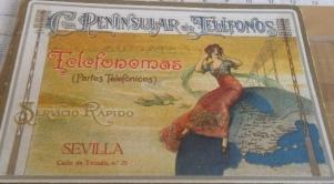 Portada prontuario Servicio Cía Peninsular Telefonemas Sevilla