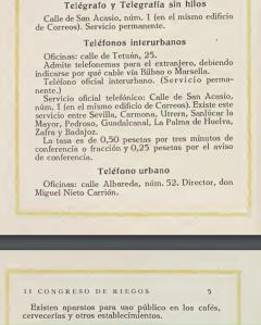 Guia de Sevilla Congreso de Riego 1918