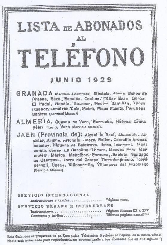 portada Guia CTNE 1929