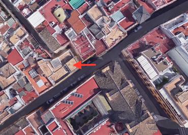 Vista aerea dón estuvo templete Sevilla Albareda