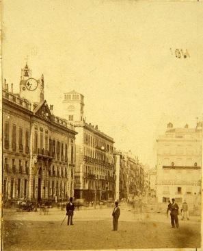 Puerta del Sol entre 1864 y 1879 @ungatopormadrid