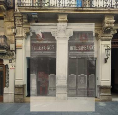 Reus. Montaje superposición 1924 y 2018. Foto Fundación Telefónica y actualidad. @EmilioBorque