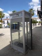 Cabina telefónica 7581-A Plaza del Ayuntamiento de Santiago de Calatrava (Jaén). 12 junio 2018