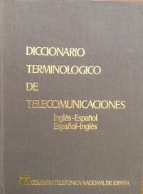 """Portada """"Diccionario Terminologico de Telecomunicaciones"""" editado por el CIE en 1976"""