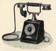 """Teléfono de Mesa Siemens&Haske tipo ZBS 19. Fig. 5 """"Telefonía Automática"""" Revista Ibérica Vol XX. nº 497 Octubre 1923"""