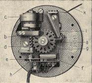 """Detalle mecanismo del disco de marcar. Siemens&Haske . Fig. 6 """"Telefonía Automática"""" Revista Ibérica Vol XX. nº 497 Octubre 1923"""