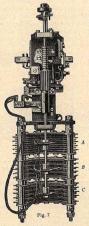 """Conmutador Strowger tipo Siemens&Haske. Fig. 7 """"Telefonía Automática"""" Revista Ibérica Vol XX. nº 497 Octubre 1923"""