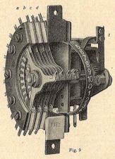 """Preselector Siemens&Haske. Fig. 9 """"Telefonía Automática"""" Revista Ibérica Vol XX. nº 497 Octubre 1923"""
