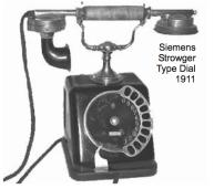 Telefono de mesa Siemens@Halske 1911. (telephonecollecting Australia)