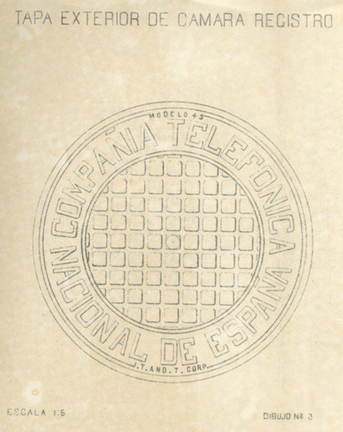 Tapa Registro modelo 45 1926