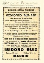 Anuncio Ozonopino Anuario Financiero con indicación del teléfono de la antigua Cia. Madrileña. Archivo Ruiz-Ramos