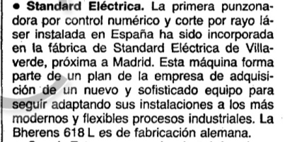 Noticia en ABC (Madrid) 31 de julio de 1986 página 56.
