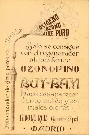 Tarjeta postal 1925. Anverso. Archivo Ruiz-Ramos.