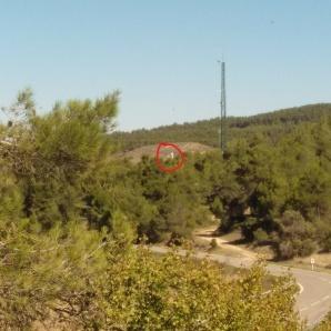 Vista del radioenlace de Senan desde el repetidor pasivo.