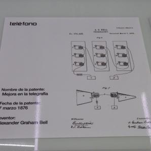 Patente del Teléfono 7 marzo 1876. A. G Bell. MUNCYT