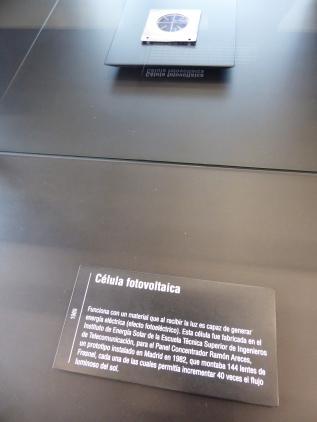 Celula fotovoltaica. 1989. MUNCYT